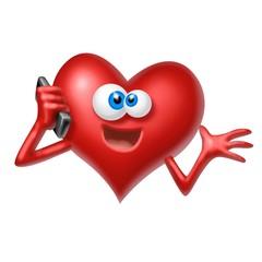 cuore al telefono