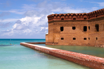 Snorkelers Fort Jefferson