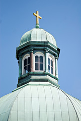Copper Cupola with Cross