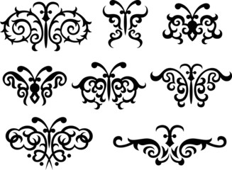 classic butterfly symbol design