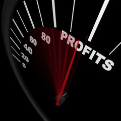 Speedometer - Rising Profits Successful Business