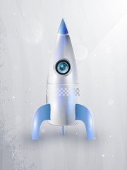 icon of rockets for space flight. eps10, transparency