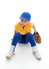 Young boy baseball or T-ball player