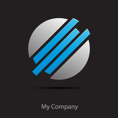 Logo blue dynamic globe # Vector