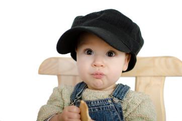 Baby isst Kekse
