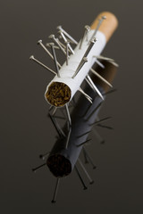 Voodoo cigarette, or is this acupuncture?