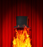 Top hat and fire