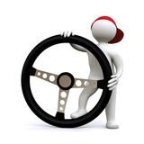 Fototapety 3D Man Driver