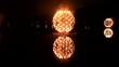 spectacle de feu sur lac