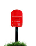 red postbox isolated poster
