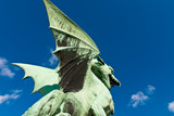 Detail from the Dragon Bridge in Ljubljana, Slovenia