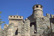 fragment of medieval, castle in Aosta, Italy