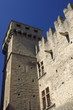 fragment of medieval castle in Aosta, Italy