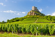 Solutre Rock with vineyards, Burgundy, France