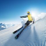 Fototapety skier in mountains