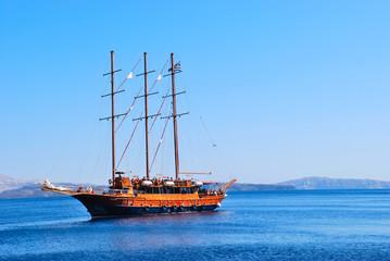 Sailing ship in the Aegean Sea