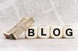 In einer Blogstille
