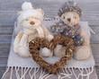 doudous amoureux en hiver