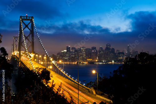 Bay Bridge and San Francisco city view