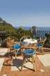 Terrace over the sea on  the beautiful island of Capri in Italy