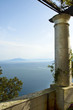 Terrace over the sea in Anacapri on island of Capri in Italy