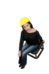 Hispanic Woman  Construction Worker