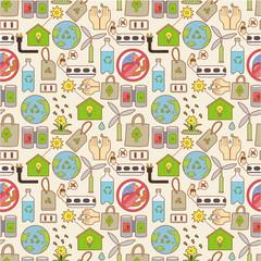 seamless eco pattern