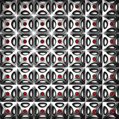 Luxury silver pattern background