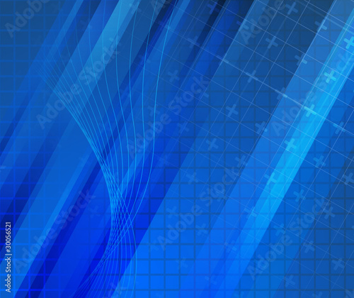 Blue background - modern concept