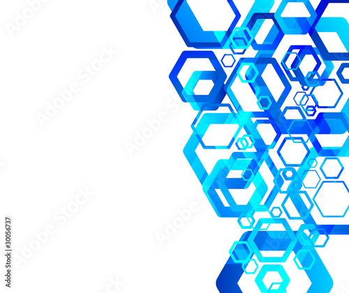 Blue tech abstraction background
