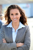 Portrait of beautiful smiling businesswoman