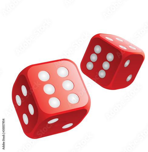 Jetés de dés double six gagnant - 30057954