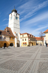Photo of the main square in Sibiu, Romania