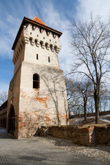 Old defensive tower in Sibiu, Romania