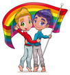Born this way. Vector image for gay pride. Isolated objects.