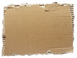 canvas print picture - ripped cardboard piece paper note
