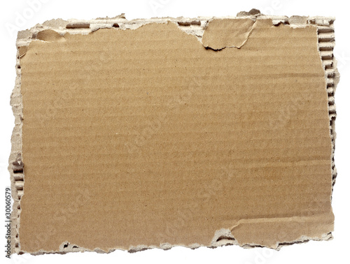 canvas print picture ripped cardboard piece paper note