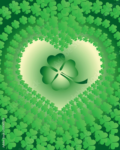 leaf clover leaves edged in view of the heart