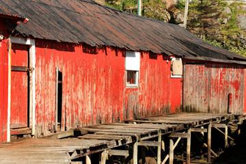 abandoned fishermen's cabins