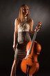 Smiling girl with cello