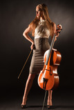 Elegant girl with cello