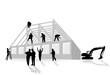 Haus-Bauarbeiten