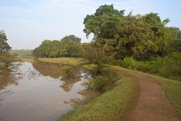 lakeside path at anuradhapura