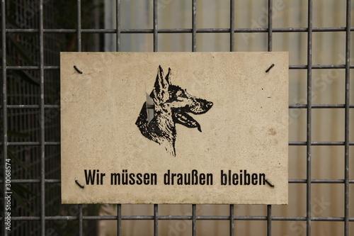 fototapete hunde verboten schild fototapeten aufkleber poster leinwandbilder. Black Bedroom Furniture Sets. Home Design Ideas
