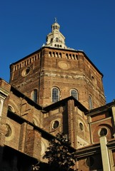 Pavia cathedral on blue sky, Lombardy, Italy