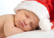 Neugeborenes mit Nikolausmütze