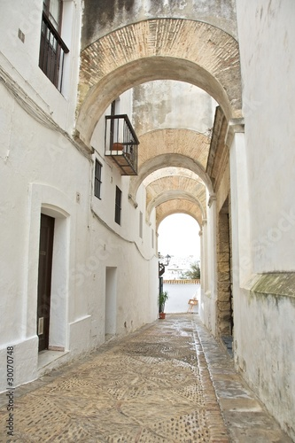 narrow street at Vejer village - 30070748