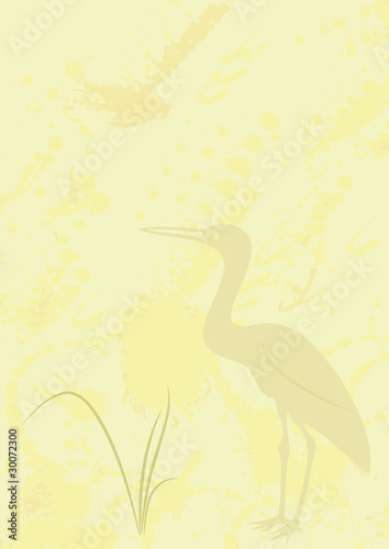 background with heron