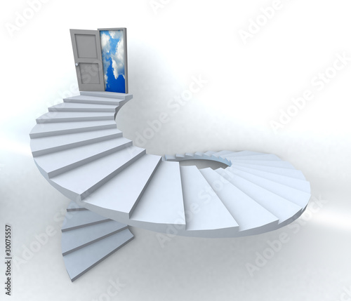 3D Success business spiral staircase