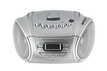 cassette and CD player with radio